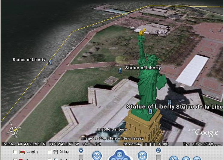 स्केचप के गूगल प्लगिन के जरिए स्वतन्त्रता की देवी